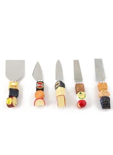 Kanca Ev 5'Lü Peynir Bıçak Seti  Renkli